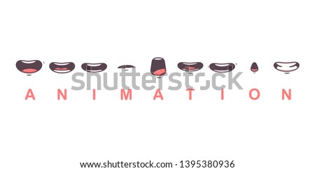 mouth animation vector cartoon
