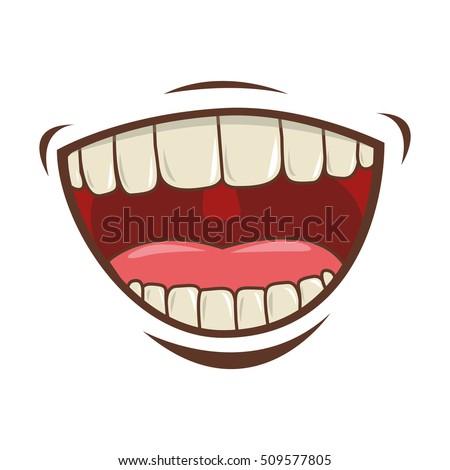 mouth cartoon icon