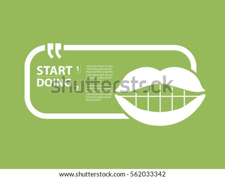 mouth design clean vector