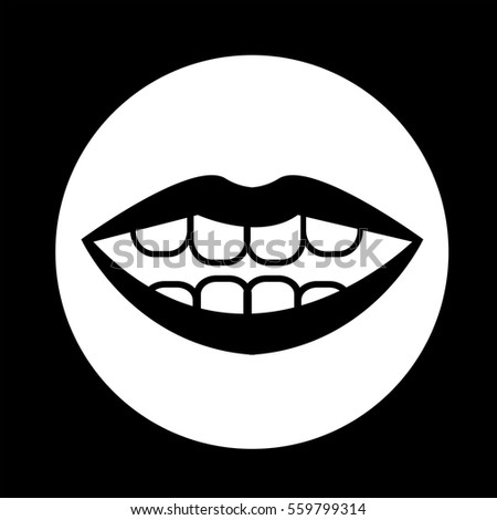 mouth icon - Shutterstock ID 559799314