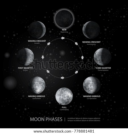 movements of the moon phases