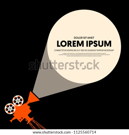 Movie and film modern retro vintage poster background. Design element template can be used for backdrop, brochure, leaflet, publication, vector illustration
