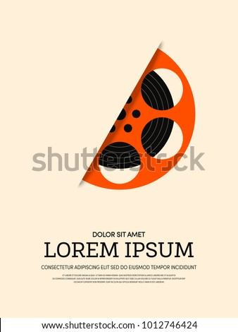 Movie and film modern retro vintage poster background, design element template can be used of backdrop, brochure, leaflet, publication, vector illustration