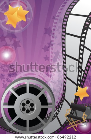 Movie background vertical, vector