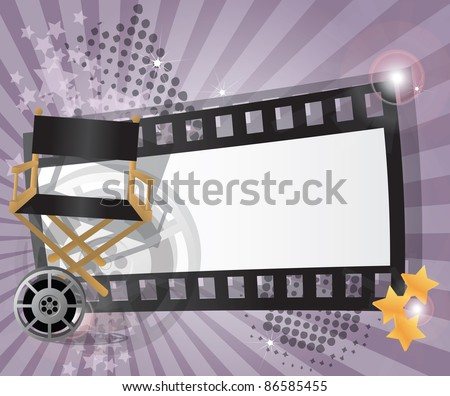 Movie background with place for text, vector - stock vector
