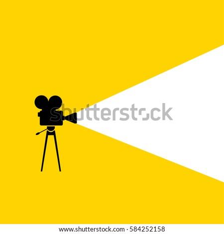 movie camera   minimalist poster