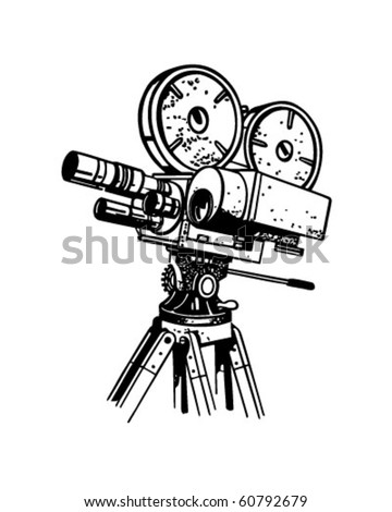 Movie Camera - Retro Clip Art