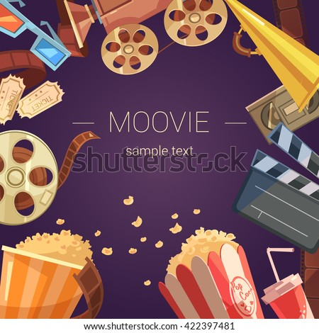 movie cartoon background with