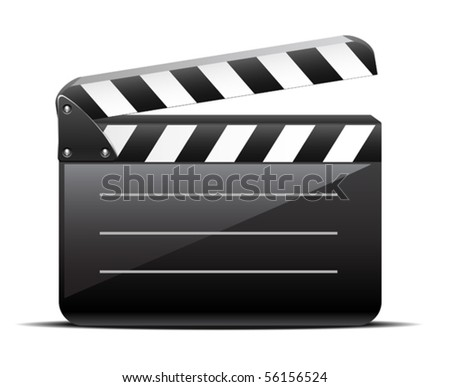 movie clapper - stock vector