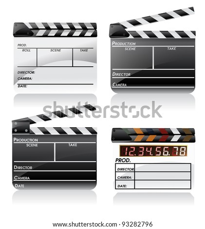 Movie clapper board set eps10