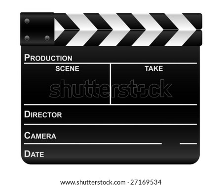 Movie clapper board. Vector illustration.