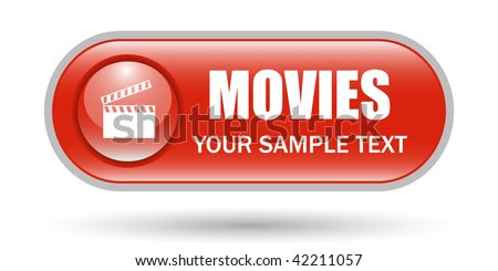 Movie Clapper Sign Icon with Copy space - stock vector