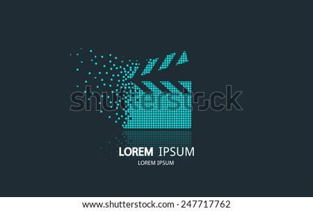 movie clapping board logo