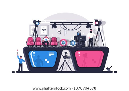 movie 3d glasses vector