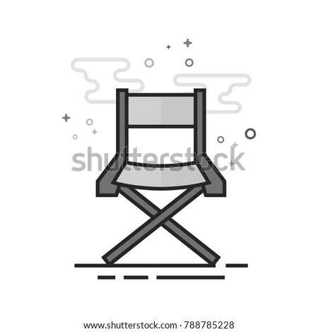movie director chair icon in