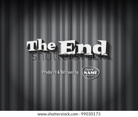 Movie ending screen - Editable Vector EPS10 - stock vector