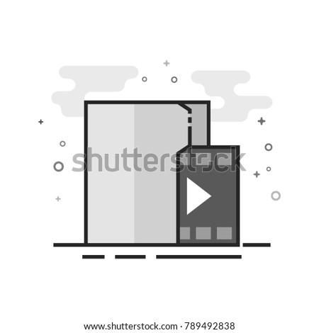 movie folder icon in flat