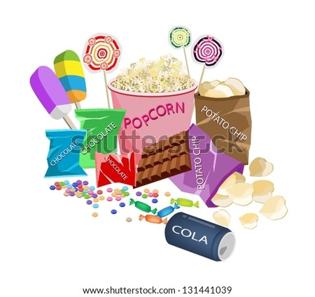 movie food  an illustration of