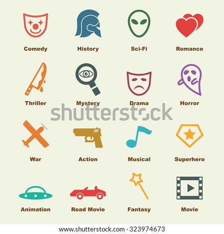 movie genre elements  vector