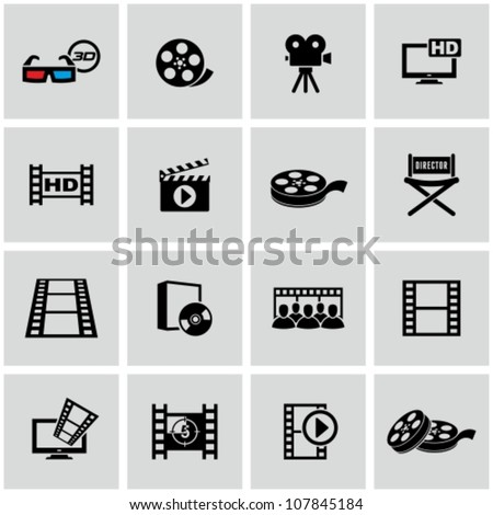 Movie icons set.