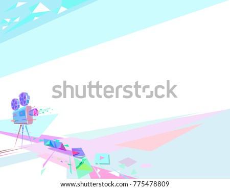 movie illustration  vector