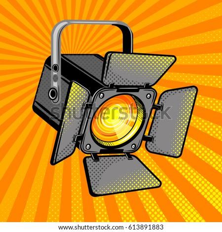movie light comic book pop art