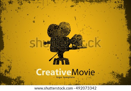 movie logo. Creative movie design. Camera logo. Studio logo