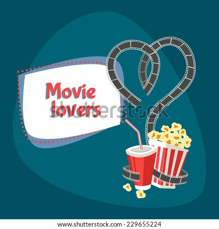 movie lovers vector