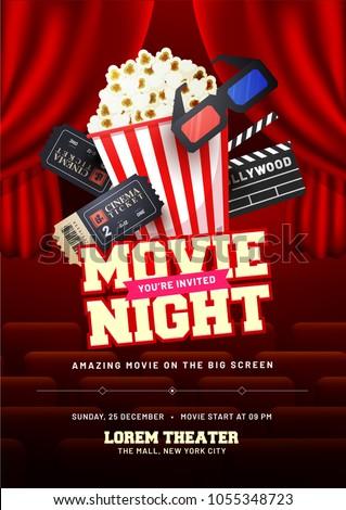 movie night concept creative