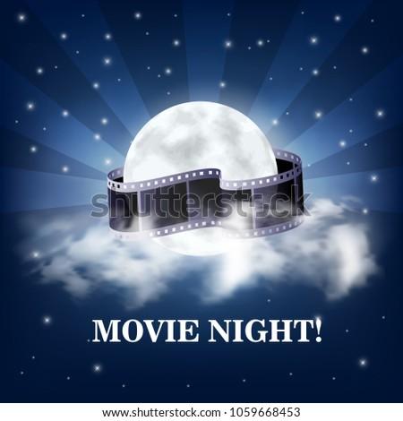 movie night  vector