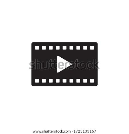 Movie, Play video icon vector design