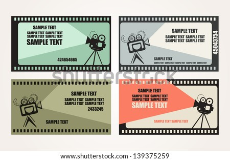 movie projector with space for text. vector illustration