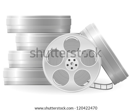 movie reel vector illustration isolated on white background