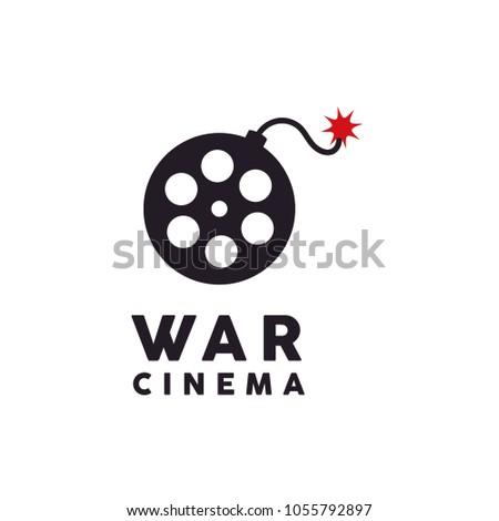 movie reel with bomb creative