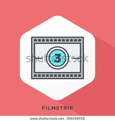 movie screen icon with dark