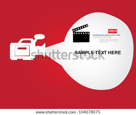 movie sign and bubble for text