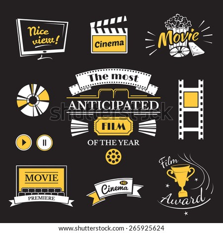 movie signs set  cinema logos