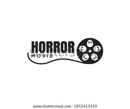 movie slide reel with big eyes