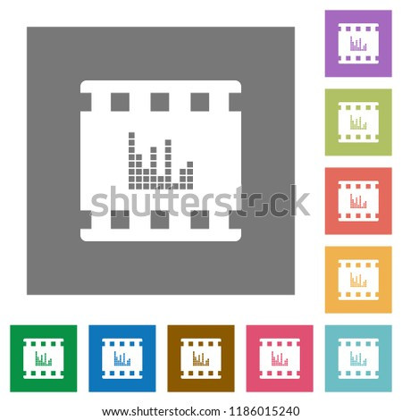 movie sounds flat icons on