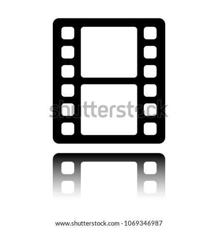 movie strip simple silhouette