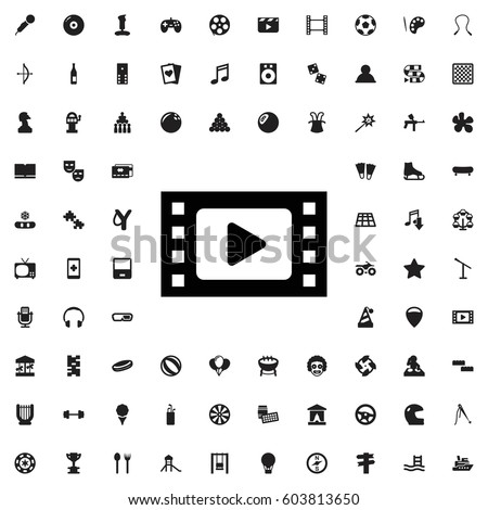 Movie tape icon illustration isolated vector sign symbol. entertainment icons vector set.