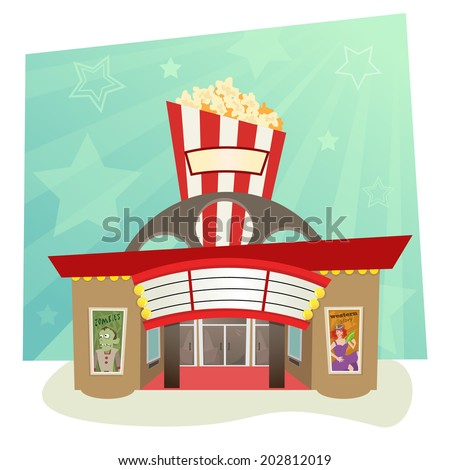 movie theater   stylized movie