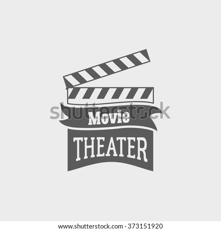 movie theater vector logo with