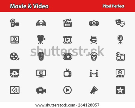 movie   video icons