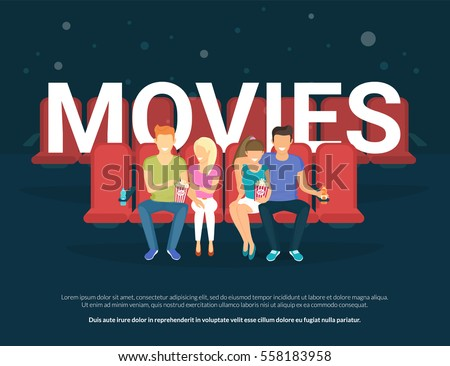 movies concept illustration of