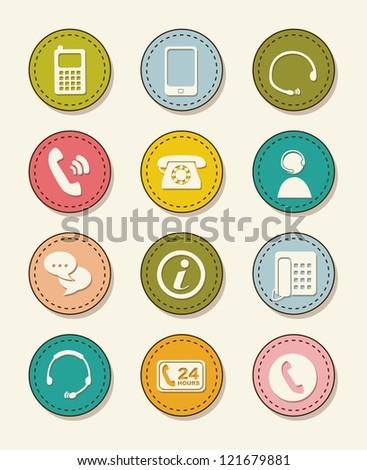 movil icons over vintage background. vector illustration