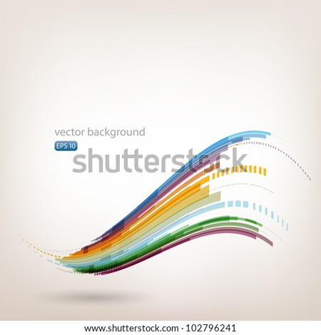 Moving colorful abstract background - stock vector