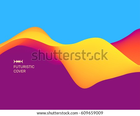 Moving colorful abstract background. Dynamic Effect. 3D Vector Illustration. Design Template.