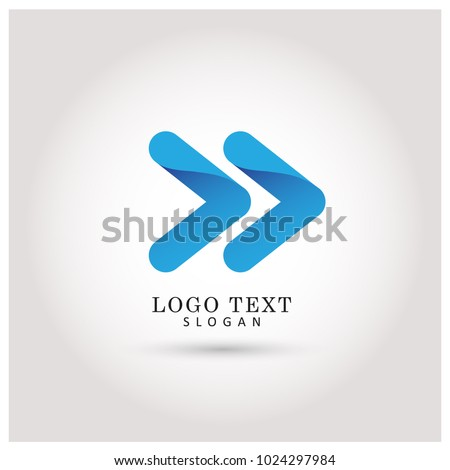 Moving Forward & Next Logo. Symbol & Icon Vector Template.