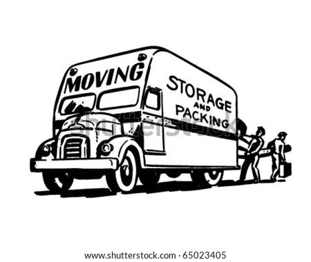 Moving Storage And Packing - Retro Clipart Illustration